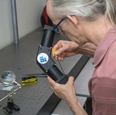Staff member working on task