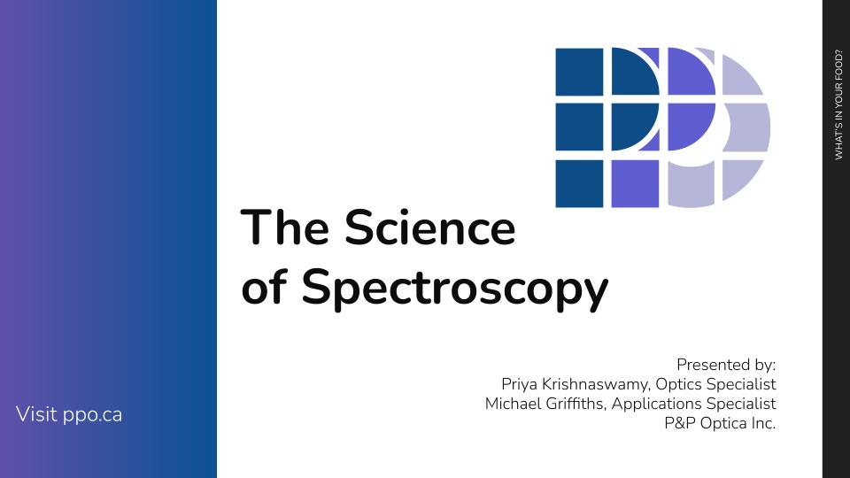 Science of Spectroscopy Webinar Slide