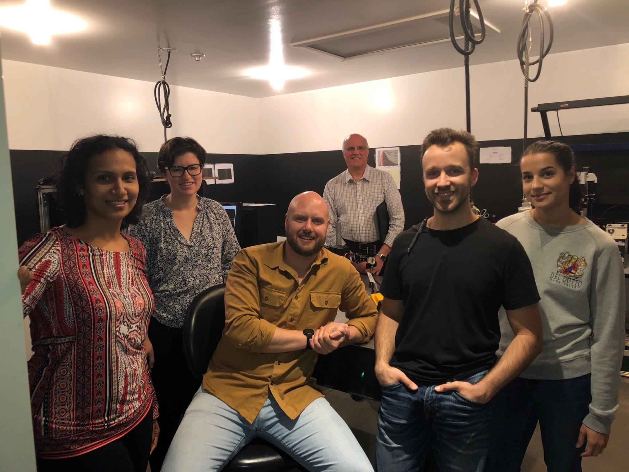 PPO team in optics lab