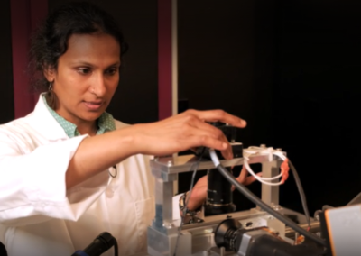 Priya with Spectrometer