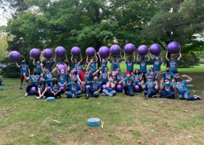 PPO Team holding exercise balls